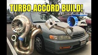 Turbo Sleeper 94 Honda Accord Build [Part 1] Intercooler mount + valve cover