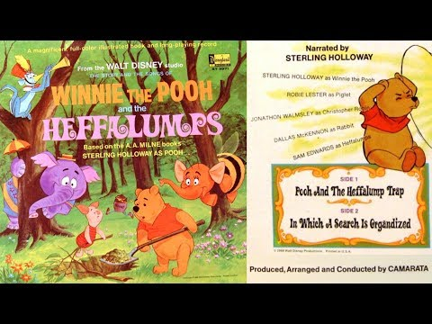 Winnie the Pooh and the Heffalumps (1968) Disneyland Book and Record
