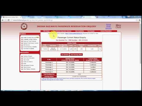 How to check PNR Status of train