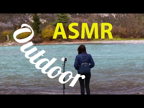 ASMR Outdoor | Walking Sounds, Water Sounds, Driving the Car