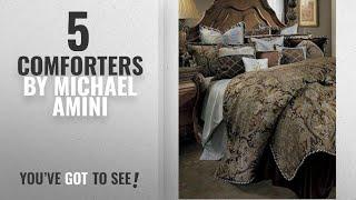 Top 10 Michael Amini Comforters [2018]: Michael Amini Portofino 13 Piece Comforter, King, Brown