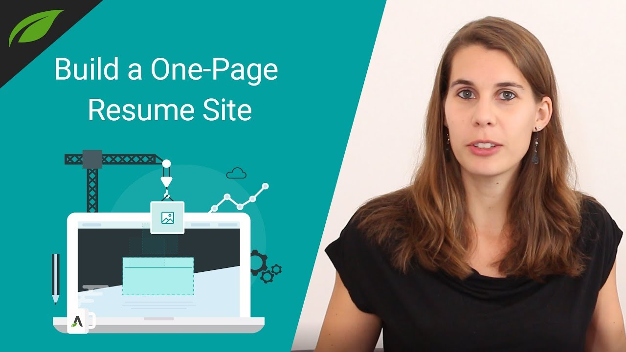 How to Build a OnePage Resume Website YouTube