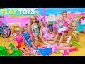 Barbie Girl Dolls Beach Party with Ice Cream Shop!