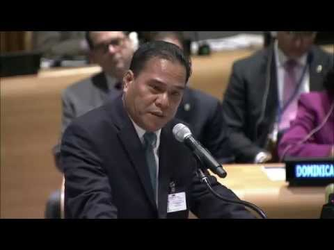 Speaker Wesley W. Simina Speech - 4th World Conference for Speakers of Parliament