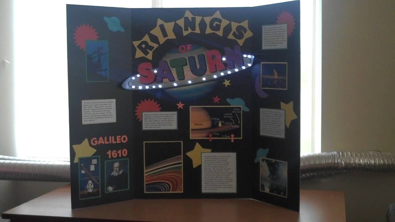 Saturn TrifoldMP YouTube - Unique science fair tri fold ideas