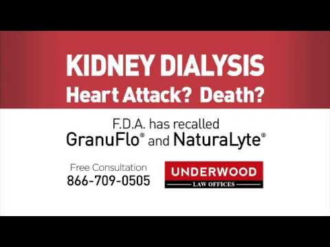 Kidney Dialysis Heart Attack or Death? Call Underwood Law Offices: 304.522.0508
