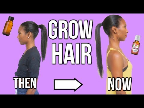 GROW YOUR HAIR LONG WITH ESSENTIAL OILS