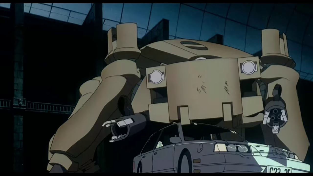 Ghost In The Shell 1995 Tank Fight 60fps Sub Esp Youtube