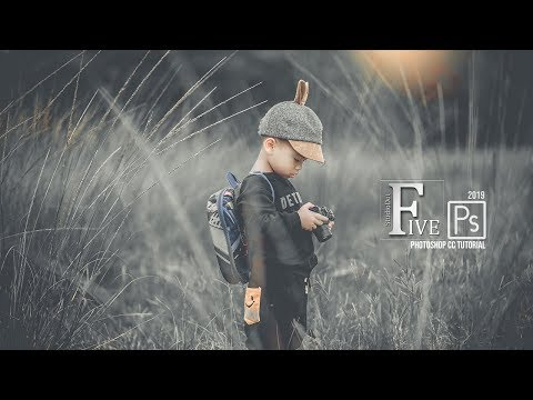 Photoshop Tutorial How to Create Cinematic Gray Color Grading in Photoshop cc 2019 thumbnail