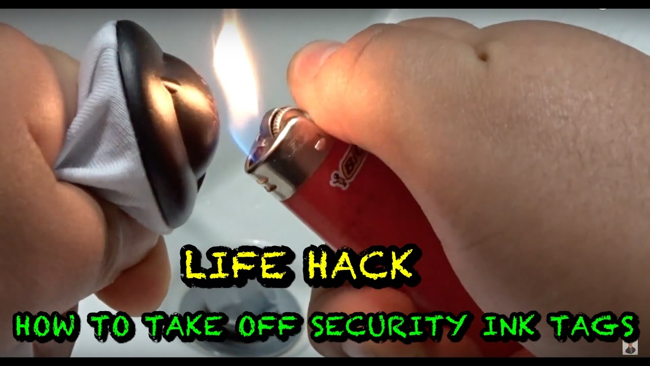 Life Hacks How To Take Off Security Ink Tags Quick And Easy Youtube