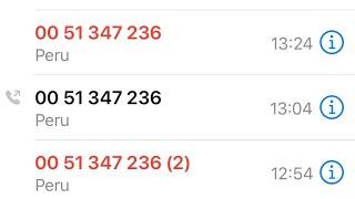 Revenue calls me from Peru today. #Revenue #Scams