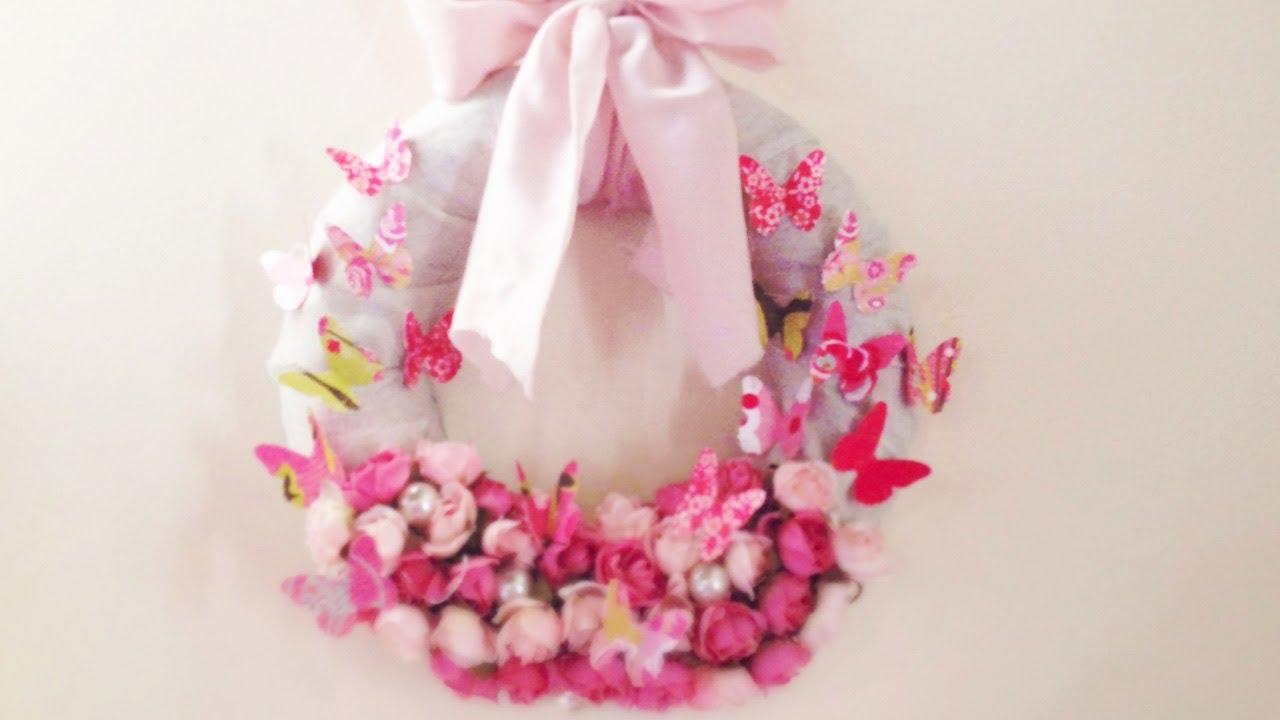 ♥ D.I.Y. Spring Wreath ♥ Ghirlanda Primaverile Fai Da Te   YouTube