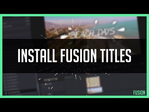 How To Install Resolve 15 Titles! - How To Use Fusion Templates