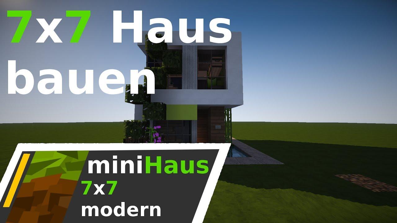 Minecraft 7x7 haus modern bauen deutsch youtube for Minecraft haus bauen modern deutsch