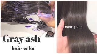 今回のグレーアッシュヘアカラーはNY発のヘアカラープロセスで作って...