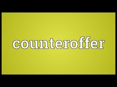Header of counteroffer