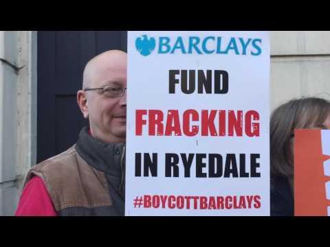 Anti-Fracking Demonstration in Malton