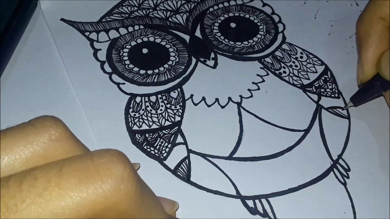 How To Draw Animal Zentangle Art For Kids Step By Step Instructions Youtube