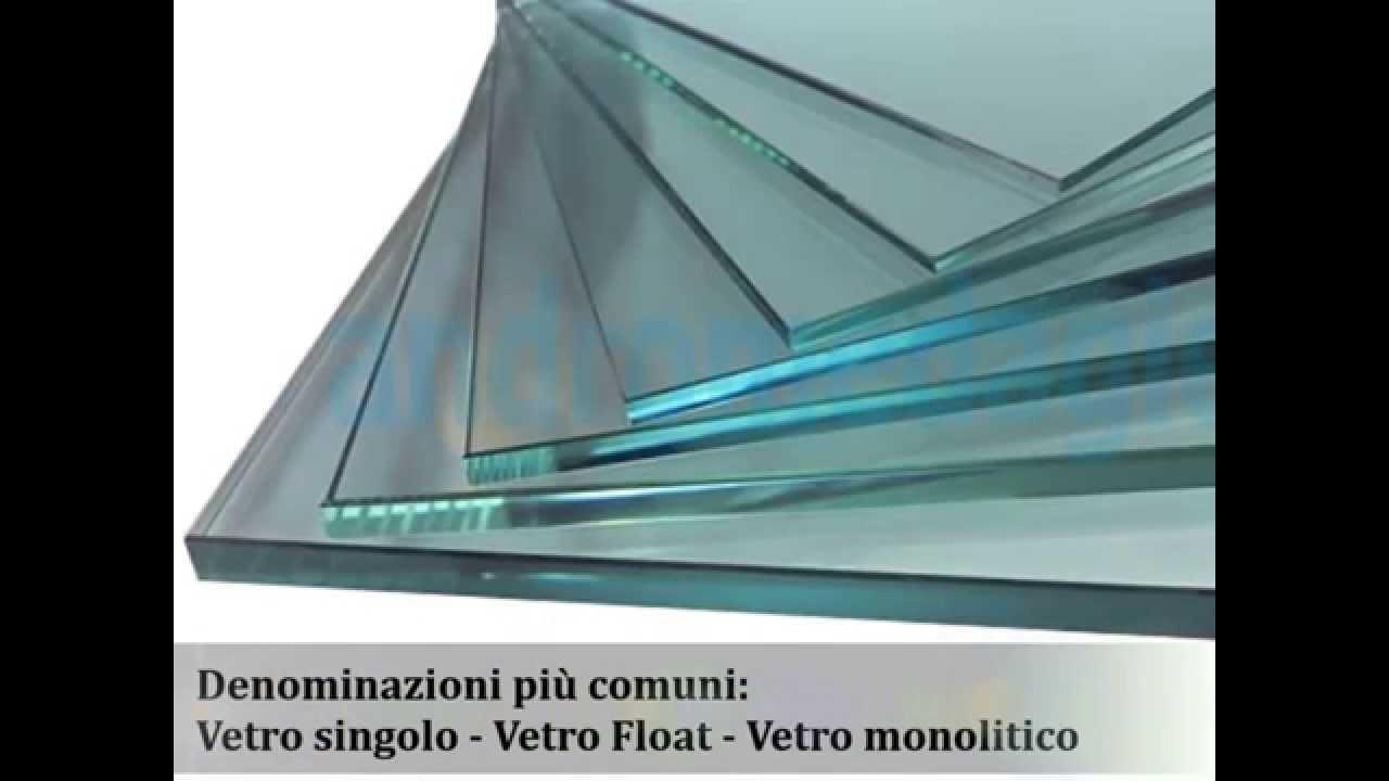 Calcolo del peso del vetro monolitico detto anche singolo o float