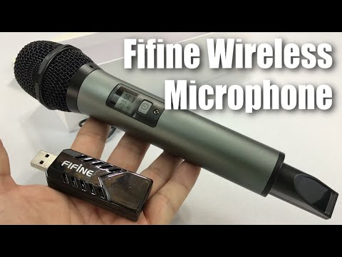 Fifine 25 Channel UHF Handheld Wireless Microphone with USB
