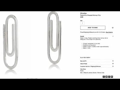 38ad08efb90557 Prada 'paper clip-shaped' money clip sells for $185 - YouTube