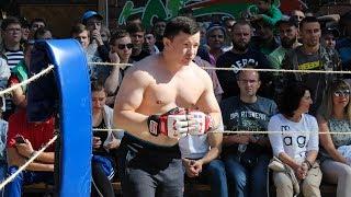 Огромная машина  против Боксера Тушителя !!