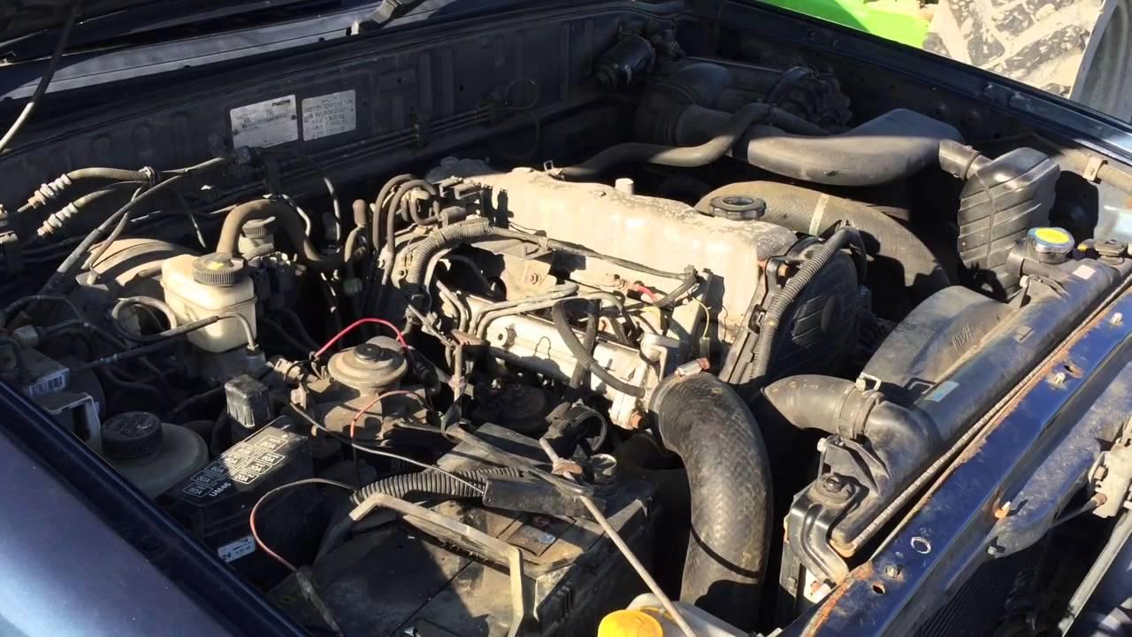 2004 Mazda B2500 2.5TD Manual Engine Start Run - YouTube