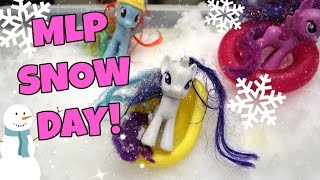 MY LITTLE PONY SNOW DAY PARTY!