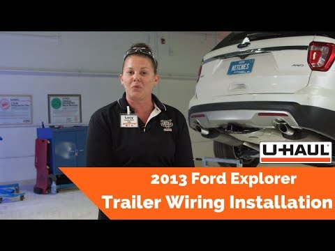 2013 ford explorer trailer wiring installation - youtube  youtube