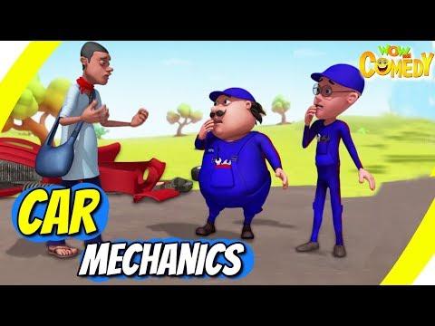 Motu Patlu- EP41A  Car Mechanics  Funny s For Kids  Wow Kidz Comedy