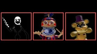 Roblox Nightmarionne ,Nightmare BB y Psychic Fredbear Plush en Afton's Family Diner[Early Access]