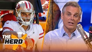 Colin on Garoppolo's decision making, Justin Herbert's NFL potential | NFL | THE HERD