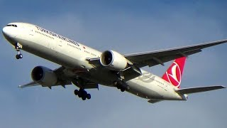 Turkish Airlines Boeing 777-300ER Landing at New York's John F. Kennedy Int'l Airport (JFK)
