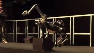 Boston Dynamics Spot Mini demo at NIPS 2016 in Barcelona