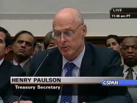 Treasury Sec. Paulson Statement to Financial Services Cmte.