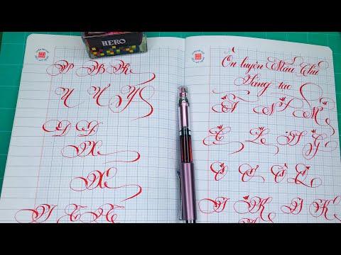 Ôn luyện mẫu chữ hoa sáng tạo Bảng chữ hoa sáng tạo dễ viết dễ học