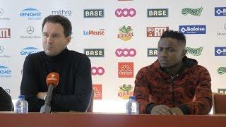 Conférence de presse avant Standard-Malines