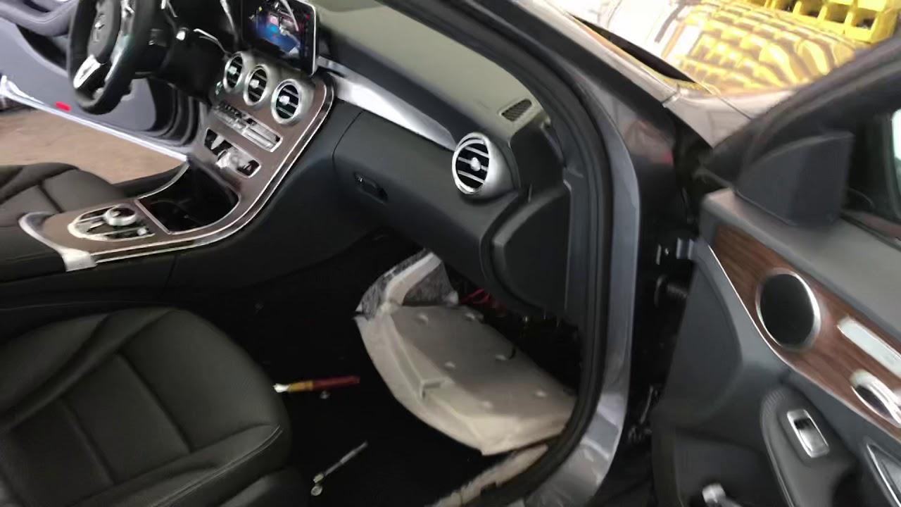 Mercedes C300 aftermarket Subwoofer install wire colors w205 Al & Ed's  Autosound