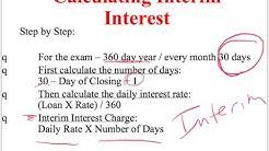 Calculating Interim Interest