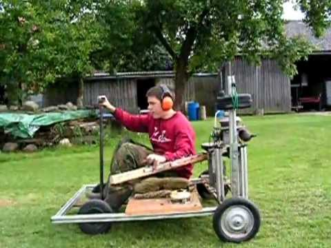 Third Test Drive Homemade Vehicle Kart With A Lawnmower Engine