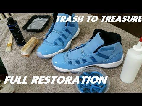 Air Jordan Pantone 11 Full Restoration | Trash To Treasure