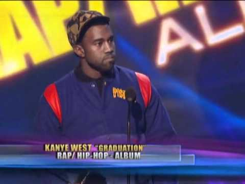Kanye West Wins Favorite Rap/Hip-Hop Album - AMA 2008