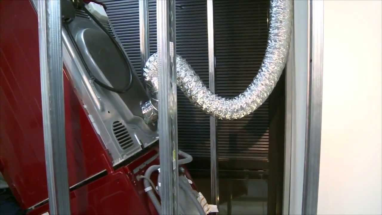 How the Pan Stand eliminates crushed venting problem for stacked dryers  YouTube