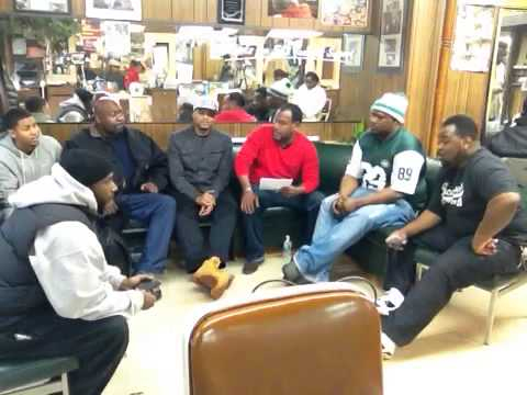 On the block sports talk live at: Marble Hill Barbershop 01