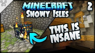 The MOST STRESSFUL Mineshaft EVER!   Minecraft: The Snowy Isles (ULTRA-HARDCORE Survival) [#2]