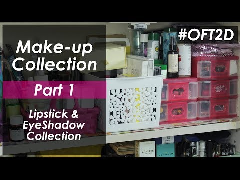 Part 1 - Makeup Collection | Lipstick & Eyeshadow Collection #OFT2D