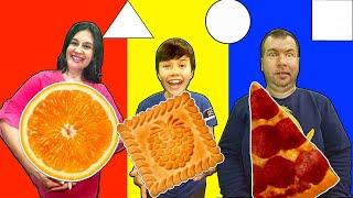 Квадратная, треугольная или круглая еда.