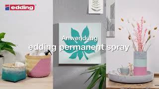 EDDING Permanent Spray - So wendest du es richtig an!