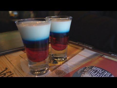 Siberian Crown Pub in Saint Petersburg, Russia - Russian Flag Shooter