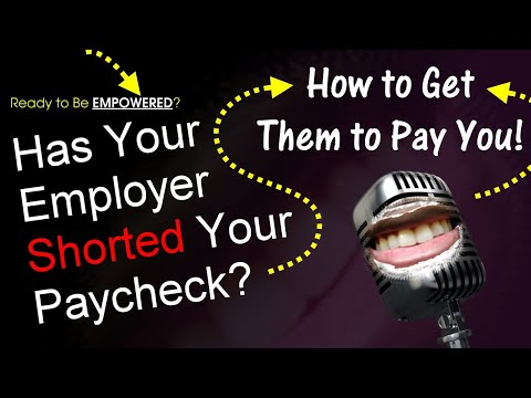 [HOW-TO] Unpaid Wages? How To Get Paid When Your Employer Shorts Your Paycheck | The Mouth Episode